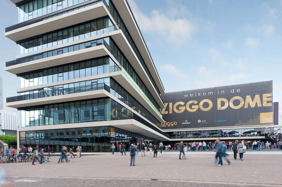 Ziggo Dome (Ziggo Dome, Ziggodome, LED, LED gevel, locatie Amsterdam ...